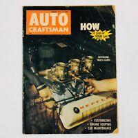 Vintage AUTO CRAFTSMAN Magazine Feb 1957 Installing Multi-Carbs Engine Souping