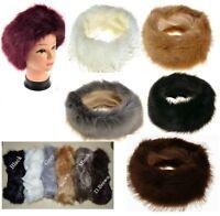 Ladies Faux Fake Fur Hat HeadBand Winter Earwarmer Hat Ski NEW ** FOX ** winter