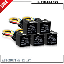 5Pc Dc 24V 12V SPDT Automotive Car Relay Switching Contactor Relays 40Amp 5-Pin