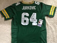 RARE JOHN JURKOVIC GREEN BAY PACKERS SIGNED AUTO JERSEY EXACT PHOTO PROOF JSA