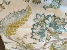 UNBRANDED PILLOW COVER,JACOBEAN FLORAL IN BLUES,GREENS,GOLD,20X2O,ZIP CLOSE,EUC