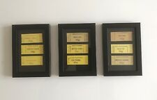 Vintage London Transport Underground Tickets 60/70s - Framed as a tryptich set