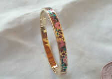 bracelet émail   pour femme en plaqué or 18k .