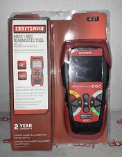 Craftsman 47177 OBD2 + ABS Diagnostic Tool Automotive Code Reader New