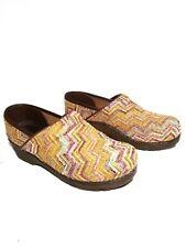 Sanita Danish Design Vegan Women's Multi-colored Fabric Clogs Size 39 US 8.5/9