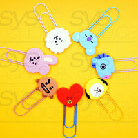 BTS BT21 Official Authentic Goods Big Clip 7SET by Kumhong Fancy