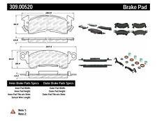 StopTech Disc Ultra-Premium Brake Pad Set for 73-75 Buick Apollo # 309.00520