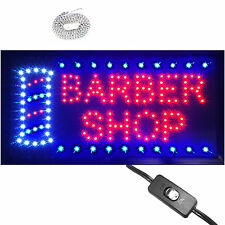"Bright Animated LED Barber Shop Open window Sign 19x10""  Beauty Salon hair neon"