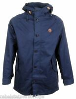 Fred Perry Men's Fishtail Hooded Parka Jacket Zip & Button J3278 Navy X-Large