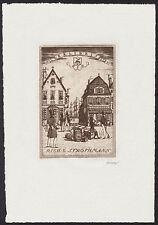 Exlibris Radierung von ERICH M. SIMON (Berlin) 1920
