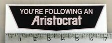 Vintage Aristocrat trailer RV sticker decal