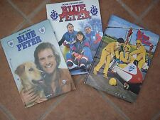 THREE BLUE PETER ANNUALS ,TWO FROM THE THE 70s (7th)(16th) & (21st) FROM 80s