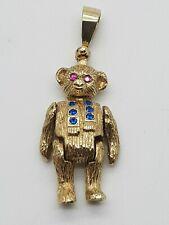 TEDDY BEAR 9CT YELLOW GOLD PENDANT