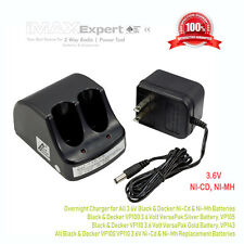 Dual Port Charger for Black & Decker VP100 VP110 Silver Gold Pack 3.6V Battery