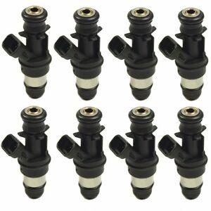 Set of 8 28lb Fuel Injectors for GMC Cadillac & Chevrolet 4.8L 5.3L 6.0L 01-07