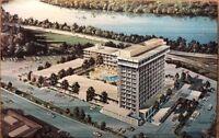 Old Postcard Aerial Marriott Motor Hotels Washington DC Overlooking Georgetown