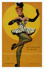 Pin Up Girl Poster 11x17 Mutoscope Card Burlesque Dancer Showgirl Stockings