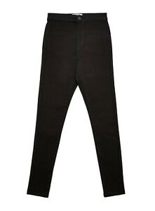 Miss Selfridge Womens Steffi Black Skinny Super High Waist Jeans Denim Pants