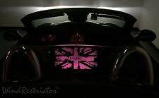 Mini Cooper Roadster wind deflector lighted windscreen windschott blocker PINK