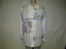 TARRA BY LA RUE COTTON HANDKERCHIEF FLORAL DESIGN TUNIC BLOUSE 1-SZ NWT $198
