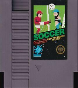 SOCCER (1987) nes nintendo 5-screw black label us NTSC USA IMPORT