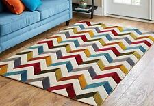 Handwoven Pure Woolen Modern Carpets Collection 1 Inch Thick Bedroom 6x9 feet