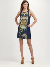 NEW Authentic Tibi Navy Printed Silk-Twill Dress  $375 US 0