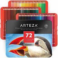 Arteza Professional Watercolor Pencils, Set of 72, Multi  Assorted Sizes