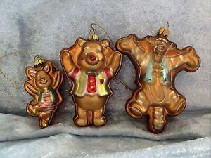 Disney Winnie the Pooh Christmas Ornament set Kanga Tigger Piglet Eeyore