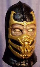 SCORPION LATEX MASK -- Mortal Kombat Costume Prop Cosplay Hellfire Halloween !!!