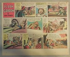 Flash Gordon Sunday Page by Mac Raboy from 8/28/1955 Half Page Size