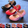 New Kids Princess Toddler Dress Shoes Girls High-heeled Princess shoes Size 9-3