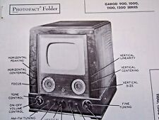 GAROD Series 900, 1000, 1100, & 1200 TELEVISION TV PHOTOFACT