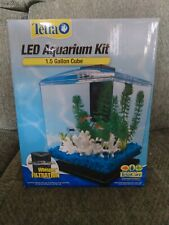 New listing Tetra Led Aquarium Kit 1.5 Gallon Cube Whisper Filtration. Never been out of box