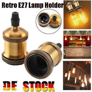 1 Stück E27 Vintage Lampenfassung Fassung Socket Lampensockel Retro Lampenhalter