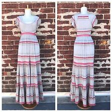 Anthropologie S Plenty Tracy Reese Rare Striped Tiered Jersey Knit Maxi Dress