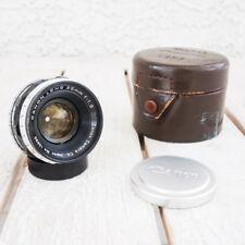 +EXC Canon 35mm f1.5 Leica Screw Mount LTM 39 Lens