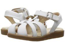 StrideRite- White-Leather  Sandals US-Little-Girls Size 11 1/2 Medium