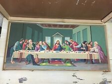 THE LAST SUPPER - PAINT BY NUMBER Vtg Craft Master Oil Painting, Original Box