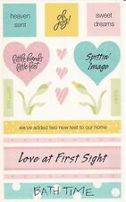 Mrs. Grossman's Giant Stickers - Vellum Captions, Baby - Heaven Sent - 2 Strips