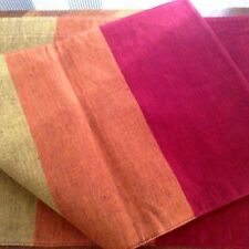 Set of (4)~Pier 1 Imports~100% Cotton~Tri-color Placemats~Made in India~New