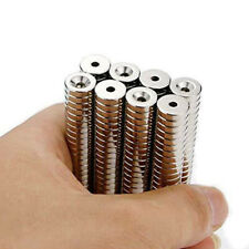 20PCS N50-10*3*3mm-with hole Powerful Cylinder Rare Earth Magnets  5QL