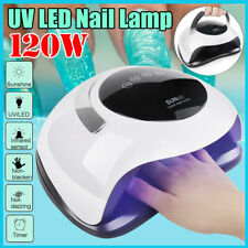 120W LED UV Nail Lamp Light High Power Curing Nail Art Dryer Manicure Timer