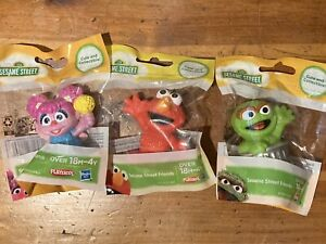 Sesame Street Friends Cute and Collectible Set of 3~Abby Cadabby, Elmo & Oscar.