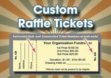 500 Custom Raffle Tickets ** Custom Designed - Perforated & Numbered