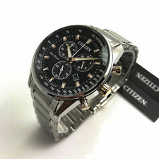 Men's Citizen Eco-Drive Chronograph Stainless Steel Watch AT2396-86E