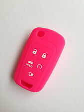 Hot pink Remote Key Case Cover for Chevy Camaro Cruze Volt Spark Sonic Malidu