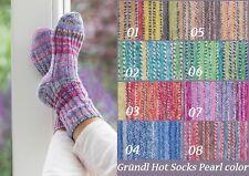 Sockenwolle mit Kaschmir Strumpfwolle Gründl Hot Socks Pearl color 50g, 4-fädig