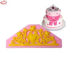 Princess Tiara Crown Silicone Fondant Mold Cake Decorating Chocolate Baking Tool