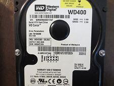 "Western Digital WD400BD-23LRA0 DCM:HSBACTJCA 40gb 3.5"" Sata Hard Drive"